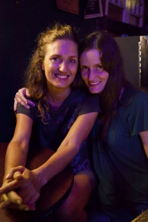 Ember and Lauren, Markey's Bar, Bywater 2012